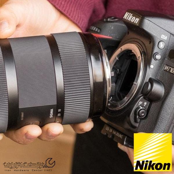 آموزش تعویض لنز دوربین نیکون